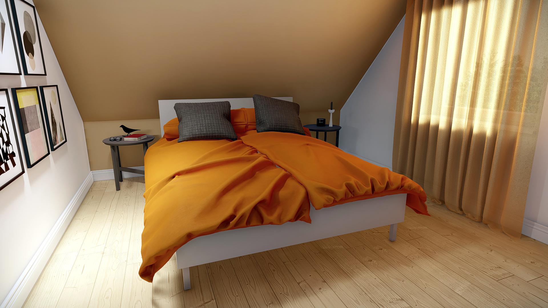Schlafzimmer Beispiel EH-96 rot