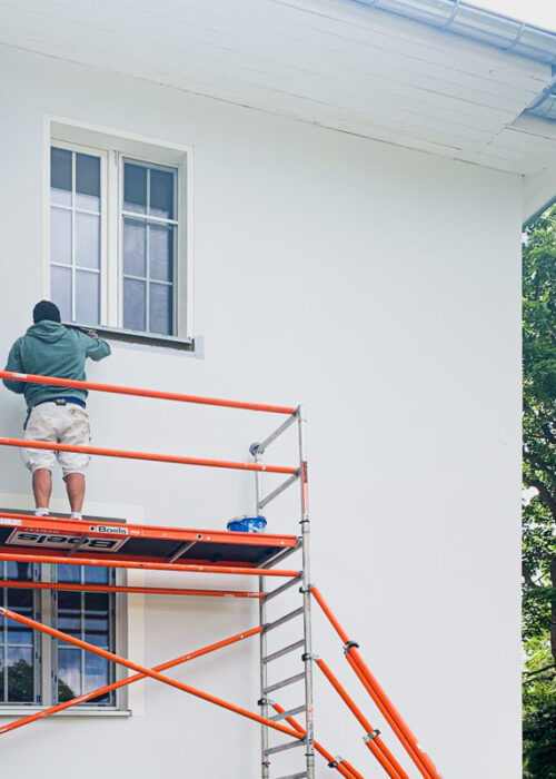 Während der Fassadensanierung